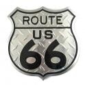 """Plaque Métallique Route 66 """"Logo"""" Métal"""