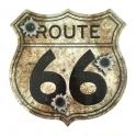 "Plaque Métallique Route 66 ""Logo"" Balles"