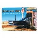 """Plaque Métallique Route 66 """"Dessin"""" Vintage Memories"""