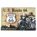 "Plaque Métallique Route 66 ""Dessin"""