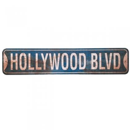 """Plaque Métallique """"61 cms"""" Hollywood vieillie"""