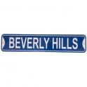 "Plaque Métallique ""61 cms"" Beverly Hills bleue"