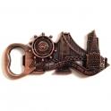 """Magnet Décapsuleur San Francisco """"Monuments"""" métal cuivre"""