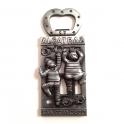 """Magnet Décapsuleur San Francisco """"Alcatraz"""" métal argent"""