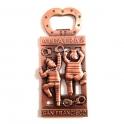 """Magnet Décapsuleur San Francisco """"Alcatraz"""" métal cuivre"""