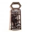 """Magnet Décapsuleur San Francisco """"Alcatraz"""" métal noir"""