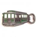 """Magnet Décapsuleur San Francisco """"Cable Car"""" métal argent"""