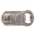 """Magnet Décapsuleur San Francisco """"Monuments"""" métal argent"""