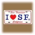 "Magnet San Francisco ""I Love S.F"" métal blanche"