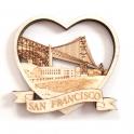 Magnet San Francisco 3D en bois