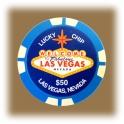 Jeton de casino aimanté Las Vegas $1000 bleu