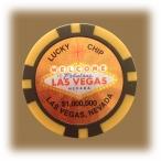 Jeton de casino aimanté Las Vegas $1.000.000 doré