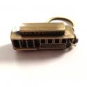 """Porte Clé San Francisco """"Cable Car"""" métal cuivre"""