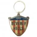"""Porte Clé Décapsuleur Los Angeles """"Beverly Hills"""" métal argent"""