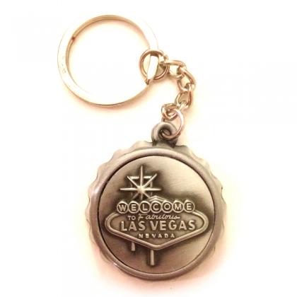 Porte Clé Décapsuleur Las Vegas métal argent
