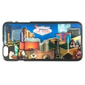"""Coque iPhone 6 plus et 6S plus Las Vegas """"Casinos"""" Noir et Argent"""
