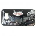 """Coque iPhone 6 et 6S Las Vegas """"Casinos"""" Noir et Argent"""