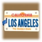 Etiquette à bagage Los Angeles