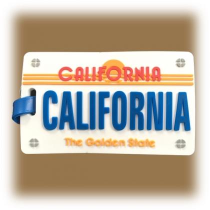 Etiquette à bagage Californie blanche