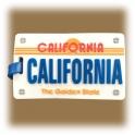 Etiquette à bagage Californie noire