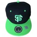 Casquette San Francisco noire et verte