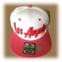 Casquette Los Angeles rose et blanche