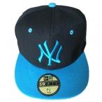 Casquette New York noire et bleue