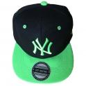 Casquette New York noire et verte