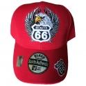 Casquette Route 66 rouge