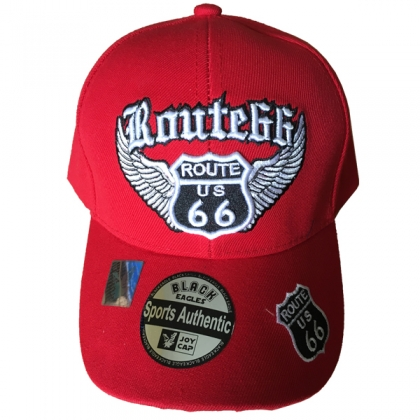 """Casquette Route 66 """"Wings"""" rouge"""