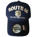Casquette Route 66 bleu nuit