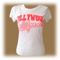 T-Shirt femme Hollywood blanc