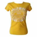 T-Shirt femme Hollywood jaune