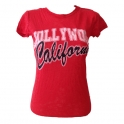 T-Shirt femme Hollywood rouge