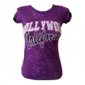 T-Shirt femme Hollywood violet