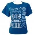 T-Shirt femme Grand Canyon bleu