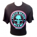 T-Shirt Miami South Beach noir