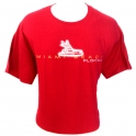T-Shirt Miami Beach rouge bordeaux