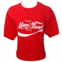 "T-Shirt Miami Beach rouge ""Coca-Cola"""