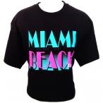 T-Shirt Miami Beach noir