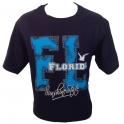 """T-Shirt Florida """"Sushine State"""" bleu nuit"""