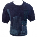 T-Shirt Miami bleu brodé