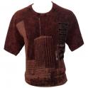 T-Shirt Miami rouge foncé brodé
