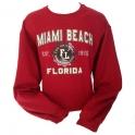 Sweat Shirt Miami Beach bordeaux
