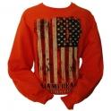 "Sweat Shirt Miami Beach ""Drapeau US"" orange"