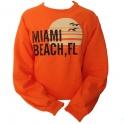 Sweat Shirt Miami Beach orange