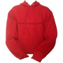 Sweat Shirt (Hoodie) à capuche New York City rouge