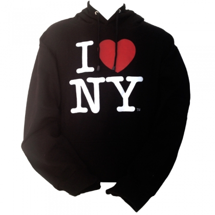 "Sweat Shirt (Hoodie) à capuche ""I Love New York"" noir"