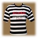 T-Shirt Alcatraz rayé noir et blanc