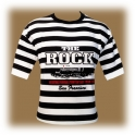 "T-Shirt Alcatraz ""The Rock"" rayé noir et blanc"